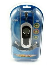 COBY Mini Digital AM/FM Stereo Radio with Neck Strap and Earphones CX-9