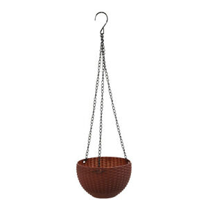 Hanging Flower Pot Resin Planter Basket Garden Flexible Decoration Balcony New