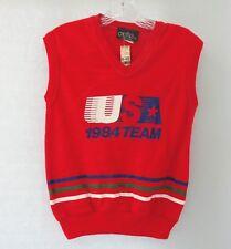 USA 1984 Team Vintage Cache LTD Olympics Sweatshirt Red Sleeveless Medium New