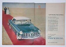 Original Magazine Ad 1954 IMPERIAL Red Carpet Beach Vintage 2 Page 1955 Car
