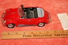 (C) 1992 Franklin Mint Precision Models 1967 Volkswagen Cabriolet Beetle 1;24 Sc