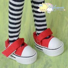 Doll Shoes Mary Jane Sneakers Red for Lati Yellow Pukifee BJD Kish Riley Blythe