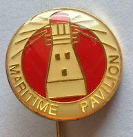 Maritime Pavillion Pin Badge Rare Vintage Military (D6)