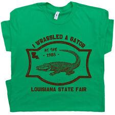Gators Wrestling T Shirt Alligator Circus Vintage Crocodile Florida Louisiana