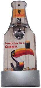 Guinness Toucan Wall Mounted Wooden Sign Bottle Opener + Catcher 300 x 120 mm sg
