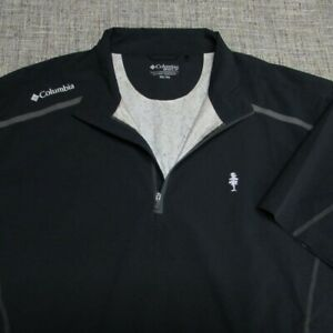 COLUMBIA GOLF 1/4 ZIP POLY SPANDEX SHORT SLEEVE GOLF PULLOVER--2XL--TOP QUALITY!
