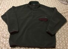 Patagonia Men's Synchilla Snap T Pullover Grey And Brown XL RARE