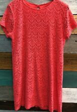 Cantata Dress Size XLarge Coral Pink Lace Dress