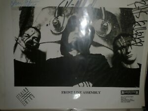 Front Line Assembly Hand Signed Press Photo Rare Industrial Autograph Bill Leeb