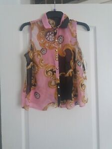 Primark Blouse Top Size 12 Rockabilly Vintage Swing 1950S Pin Up Collectif Lindy