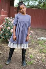 BLU PONY VINTAGE bluebonnet darkplum/charcoal print DRESS SIZE 8