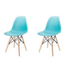 Blau Esszimmerstuhl Wohnzimmer DSW Design Stuhl Kunststoff Büro Eiffel Stühle