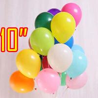 "10-100, Plain LATEX BALLOONS, 10"", Helium. Party, Birthday, Wedding, Christening"