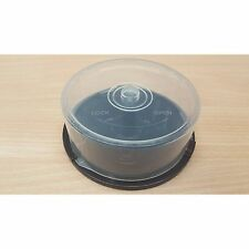 4 x EMPTY 25 DISC SPINDLE TUBS / CAKE BOX FOR STORING DVDR/CDR/BDR DISCS