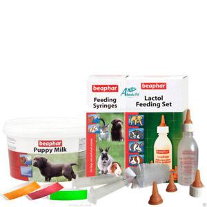 Beaphar Lactol Puppy Bottle Teats Feeding Syringes 250g Milk Whelping Collars