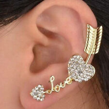 Ear Climber Crawler Cuff Pierced Earrings Valentines Day Gifts Word Art Heart