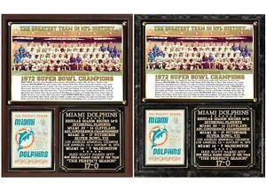 Miami Dolphins The Perfect Season 1972 Super Bowl Champions Photo Plaque