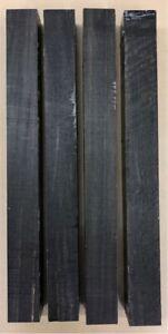 Schwarzes Ebenholz | Ebony | Drechselholz | Tonholz | Tonewood | 400 x 40 x 40mm