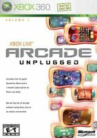 Xbox Live Arcade Unplugged For Xbox 360 Very Good 2E