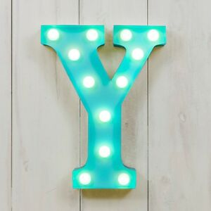 CIRCUS STYLE LED LIGHT UP METAL LETTER - Y 'RAW'