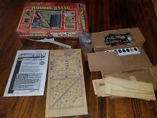 Vintage 1980s Woodburning Kit box leather Cd holder picture frame iron burning