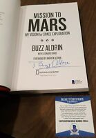 "BUZZ ALDRIN SIGNED AUTOGRAPHED ""MISSION TO MARS"" BOOK 1st edition BECKETT COA"