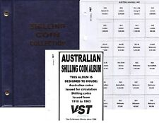 BLUE 1/-.. VST.AUSTRALIAN small coin album 6 pages FREE POST 1910 to 1963