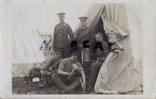 Soldier Group Scots Guards in tented camp at Caterham 1907