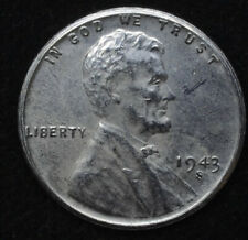 3 Coins! 1943 P D S Steel Wheat Cent Penny Set SDS   **FREE SHIPPING**