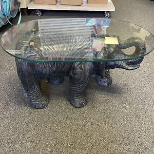 "Elephant Glass Coffee Table 30""x19"" 16"" Tall"