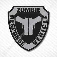 Zombie Response Vehicle Sticker Vinyl Decal Gun Metal Walking Dead Car Truck JDM