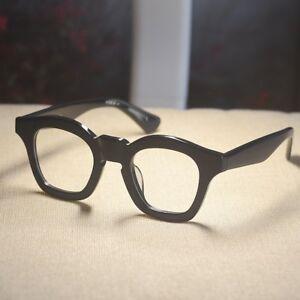 Vintage handmade Eyeglasses mens artists acetate black RX optical eyeglasses