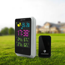 Weather Station Meter Digital Alarm Clock With LED Screen Date Time Display