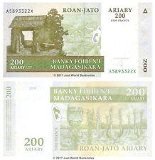 MADAGASCAR 200 Ariary (1,000 Franchi) 2004 P-87 BANCONOTE UNC