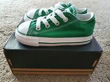 Converse CT green ox laced infant size 6 brand new unworn in box