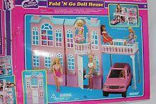 "Blue Box dolls house Fold 'n Go Original Box  Vtg toy Miss Glamour 40x20x12.5"""