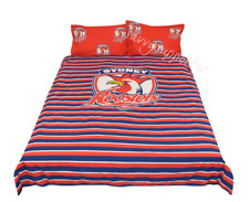 Sydney Roosters NRL Quilt Cover Set Sizes Single Double Queen Duvet Doona