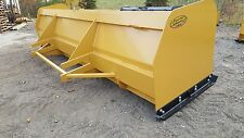Snow Pusher Box Blade Plow Heavy Duty Loader 16 Ft Best Value Guaranteed