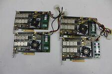 (4) Napatech Nt20E 2-Port 10Gb Pcie Network Capture Card 2Gb Ram 810-0023-01-05