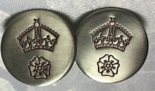 Unusual Military Cufflinks / Cuff Links - Army - Navy - RAF - Crown over a Rose