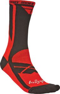 Fly Racing Red/Black Mens Factory Rider Dirt Bike Socks MX ATV 2015