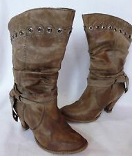 River Island Women's 100% Leather Mid Heel (1.5-3 in.) Boots