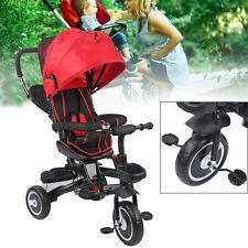 Dreirad Kinderdreirad Kinderwagen Babywagen inkl. Schubstange Multifunktionales
