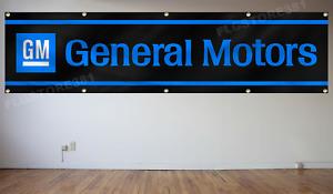 GM General Motors Banner Flag 2X8Ft Wall Decor Garage Shop Large Banner