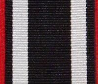 WW1 GERMANY IRON CROSS 2ND CLASS MEDAL RIBBON FOR MOUNTING OR REPLACEMENT
