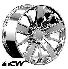 "(1) 20x9"" Silverado 2014 High Country OE Replica Chome Wheel Rim 6x5.5"" +27 mm"