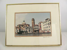 18 x 14 Grand Canal Venice Italy Framed & Signed Photographic Print