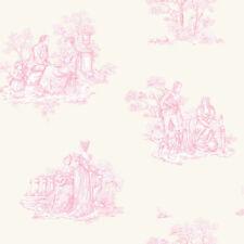 Rollos de papel pintado Rasch color principal rosa