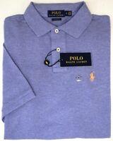 NEW $98 Polo Ralph Lauren Short Sleeve Classic Fit Shirt Mens Purple Mesh NWT