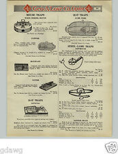 1925 PAPER AD Newhouse #5 Bear Trap Leg Hold Double Spring